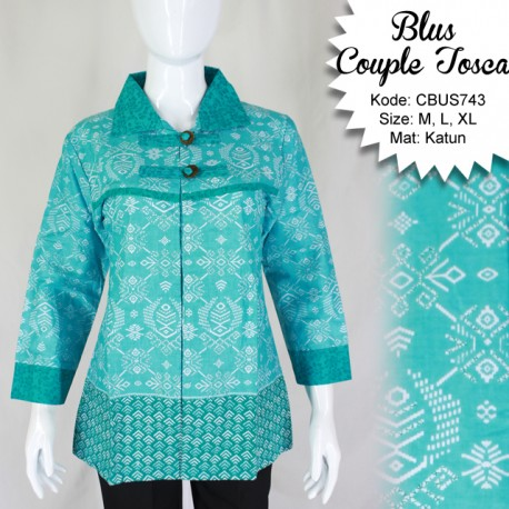 Baju Batik Sarimbit Blus Katun Etnik
