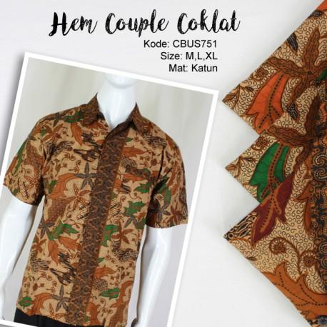 Baju Batik Sarimbit Kemeja Katun Motif Daun