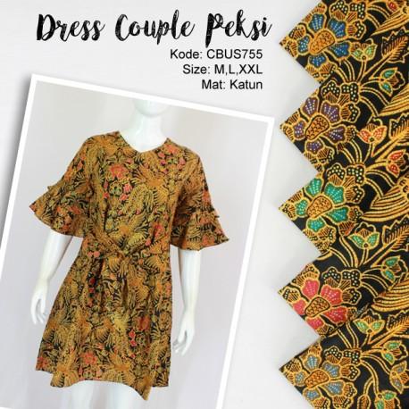 Baju Batik Sarimbit Dress Motif Peksi Kelan