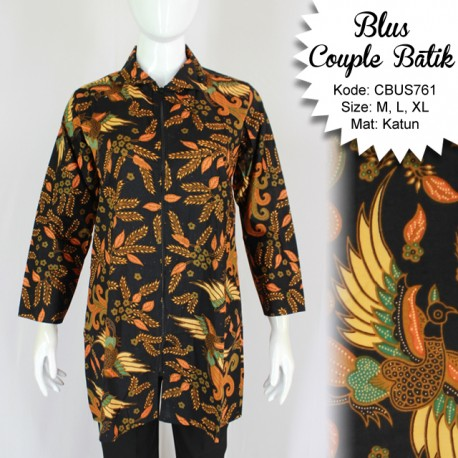 Baju Batik Sarimbit Blus Motif Jokowi
