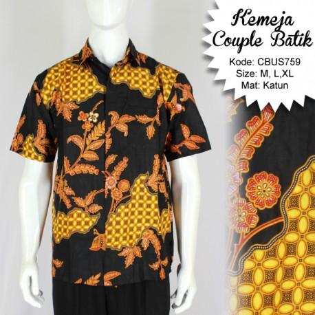 Baju Batik Sarimbit Kemeja Motif Pulau