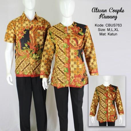 Baju Batik Sarimbit Blus Motif Kawung