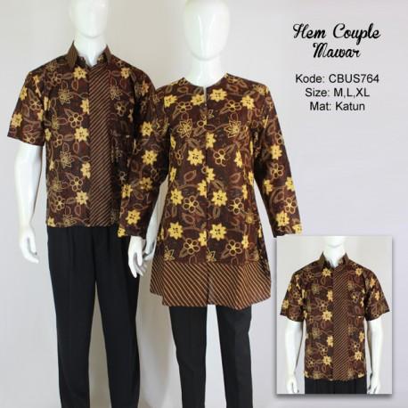 Baju Batik Sarimbit Kemeja Motif Mawar