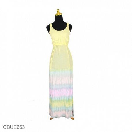 Baju Dress Batik Pelangi Katun