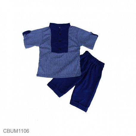 Baju Koko Anak Abbas Biru Size 1