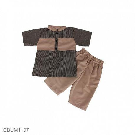 Baju Koko Anak Altair Cream  Size 1 & 2