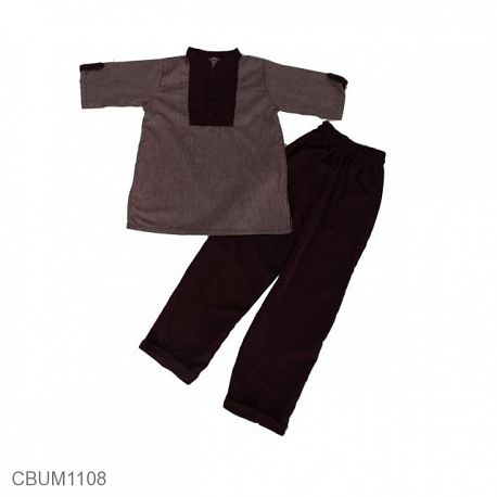 Baju Koko Anak Abbas Merah Marun Size 10