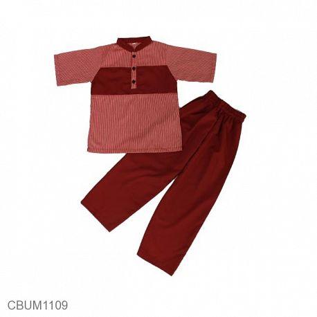Baju Koko Anak Altair Merah Size 8
