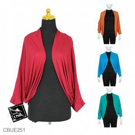Baju Muslim Batwing Cardigan Polos