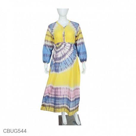 Baju Muslim Gamis Simple Katun Pelangi Qanita