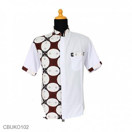 Baju Muslim Koko Motif Kawung Picis