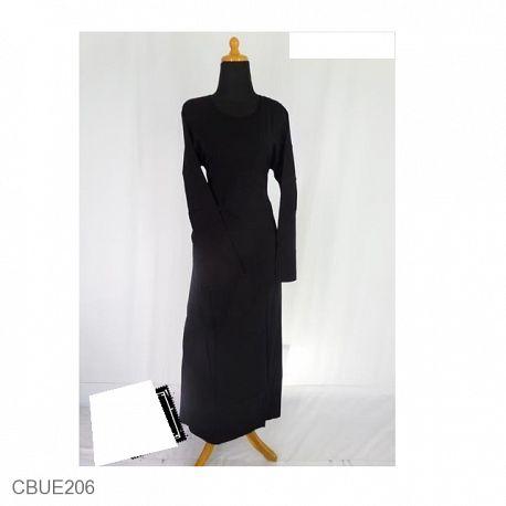 Baju Muslim Manset Gamis Inner Panjang Katun Hitam