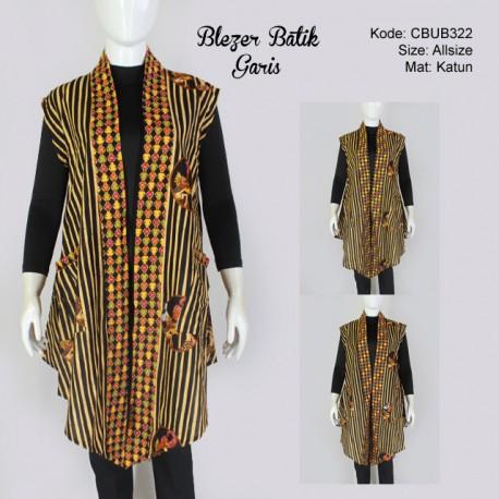 Blazer Batik Garis Etnik