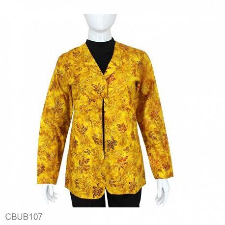 Blazer Batik Pevita Kuning