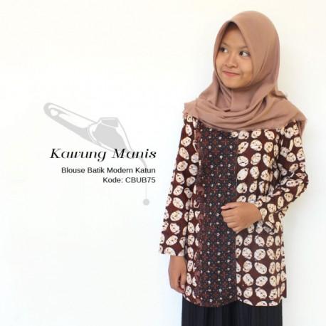 Blouse Batik Katun Motif Kawung Manis