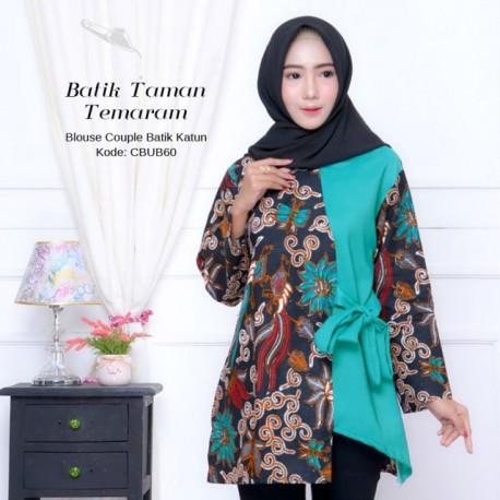 Blouse Batik Taman Temaram Tosca