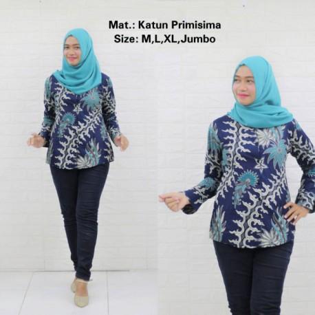 Blouse Batik Wanita Katun Primishima Pakis Kelabang