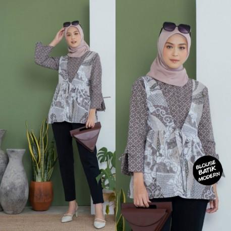 Blouse Batik Wanita Katun Kombinasi