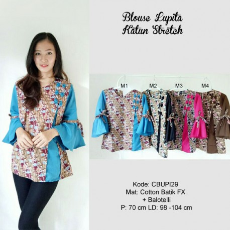 Blouse Lupita Batik Katun Stretch