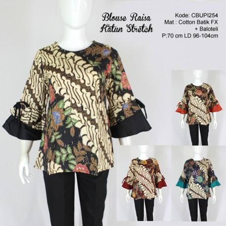 Blouse Raisa Batik Katun Stretch