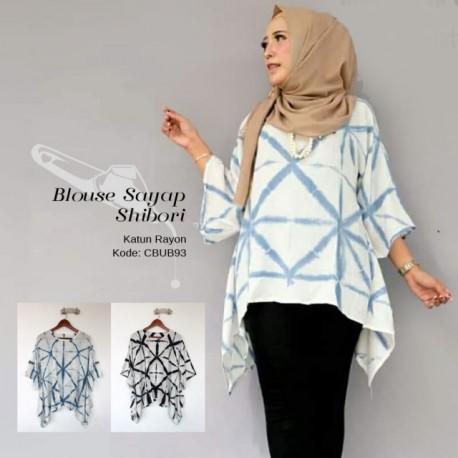 Blouse Sayap Shibori Rayon