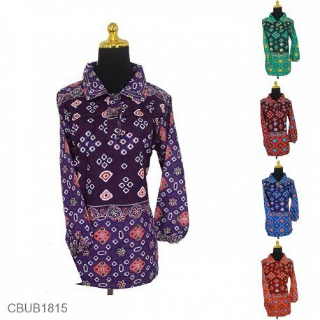 Blus Batik ABG Panjang Motif Telur Ceplok Warna