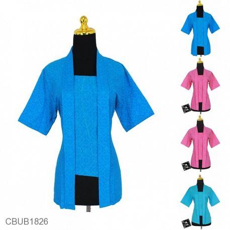 Blus Batik Kutu Baru Pekalongan Motif Abstrak Daun Asem