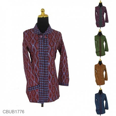 Blus Batik Panjang Katun Pekalongan Motif Banten