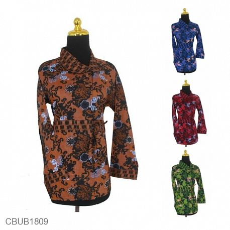 Blus Batik Panjang Motif Asmad Ubur-Ubur