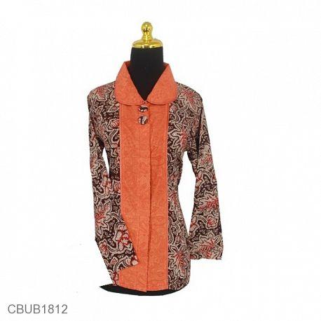 Blus Batik Panjang Motif Godhongan Tumpal