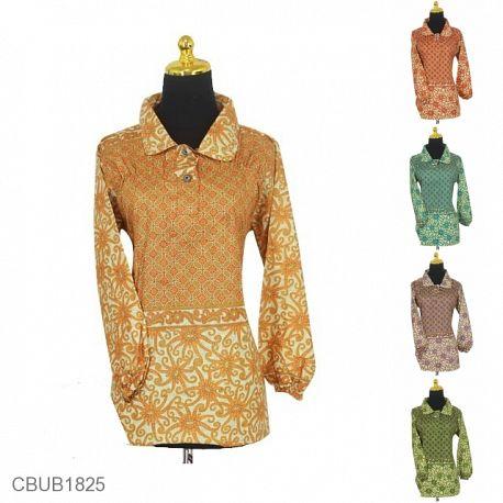 Blus Batik Panjang Motif Kawung Warna
