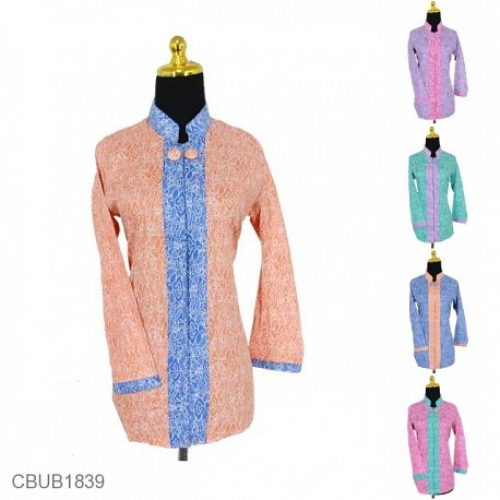 Blus Batik Panjang Motif Mega Mendung Warna