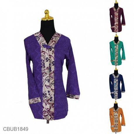 Blus Batik Panjang Pekalongan Motif Asmad Bunga Warna