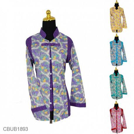 Blus Batik Panjang Katun Motif Taman Mego