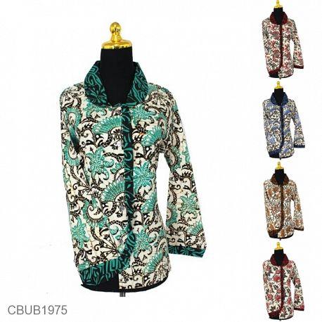Blus Batik Panjang Motif Bunga Abstrak