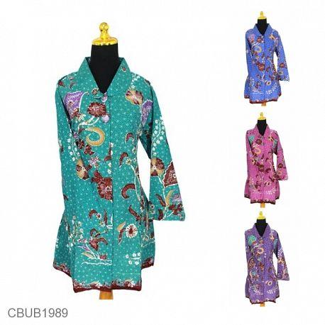 Blus Batik Panjang Motif Madura Warna