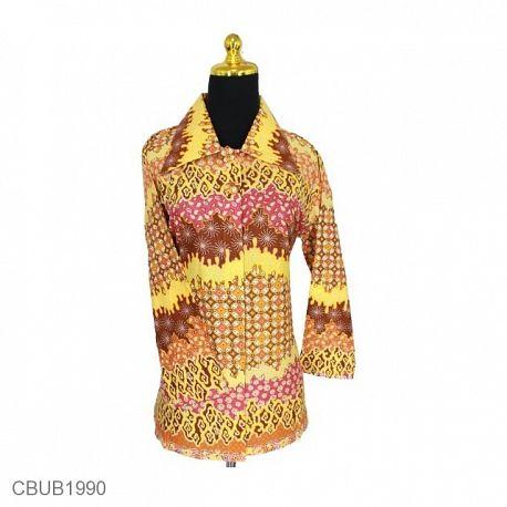 Blus Batik Panjang Motif Mego Kawung