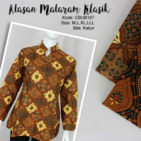 Blus Batik Panjang Katun Motif Klasik