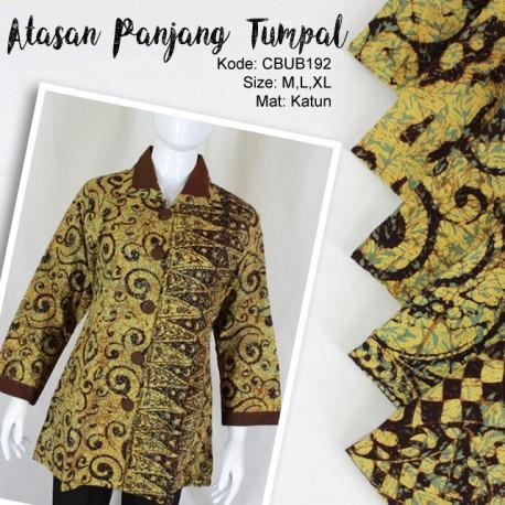 Blus Batik Panjang Tumpal Kembang
