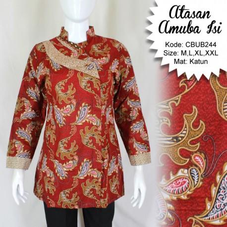 Blus Batik Panjang Motif Amuba Isi