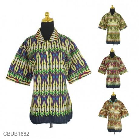 Blus Batik Tanggung Motif Rang Rang Bambu