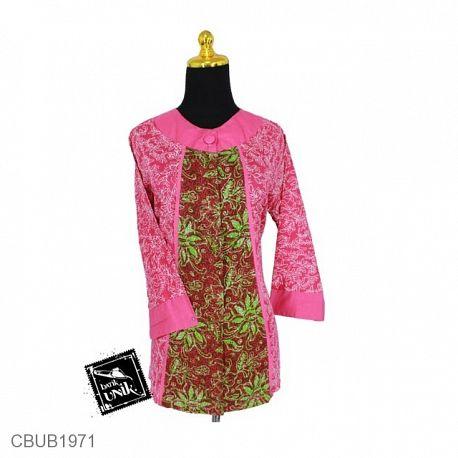Blus Batik Tanggung Motif Godhong Warna