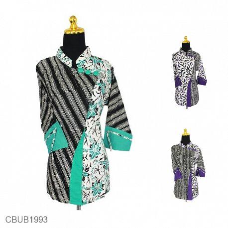 Blus Batik Tanggung Motif Cemeng Abstrak