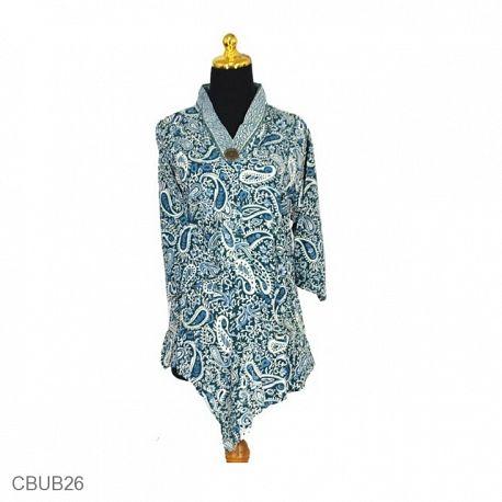 Blus Batik Tanggung Motif Amuba Keyong