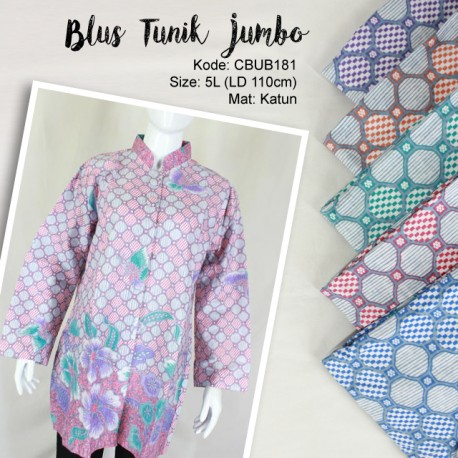 Blus Jumbo Motif Bunga Soft