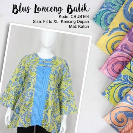 Blus Lonceng Katun Kancing Depan