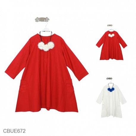 Blus Mareta Panjang Motif Merah Putih