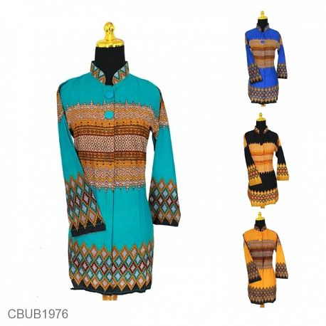 Blus Tunik Panjang Motif Rang Rang Tumpal