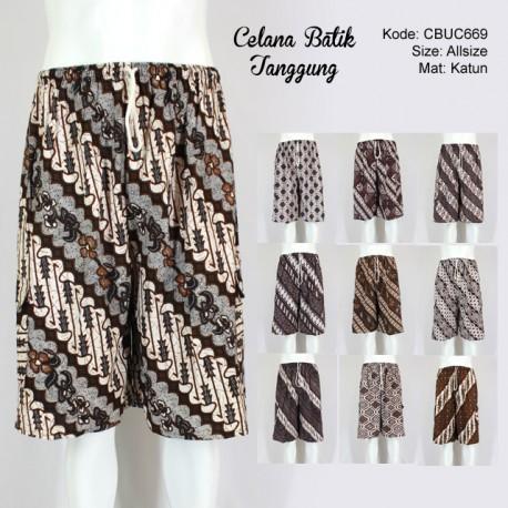 Celana Batik 3/4 Jumbo Motif Klasik