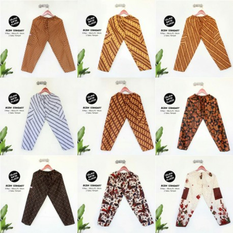Celana Boim Panjang Batik Santoso Standart